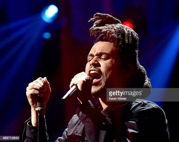 Singer The Weeknd performs at the 2015 iHeartRadio Music Festival at the MGM Grand Garden Arena on September 19 2015 in Las Vegas Nevada