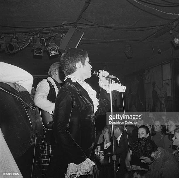 Singer Thelma Camacho of the rock and roll band The First Edition perform at the Bitter End night club on November 8 1967 in New York New York