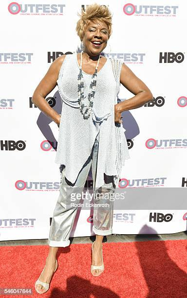 Singer Thelma Houston attends 2016 Outfest Los Angeles LGBT Film Festival screening of Jewels Catch One at Harmony Gold Theatre on July 10 2016 in...