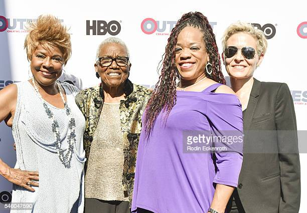 Singer Thelma Houston VHF founder/CEO Jewel ThaisWilliams singer Evelyn Champagne King and director C Fitz attend 2016 Outfest Los Angeles LGBT Film...