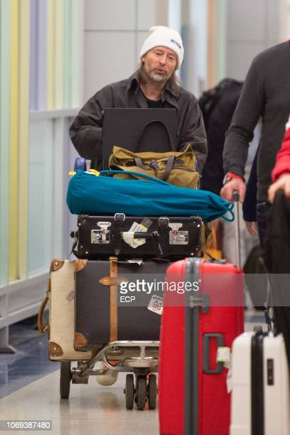 Singer Thom York from Radiohead seen at JFK airport on November 18 2018 in New York City