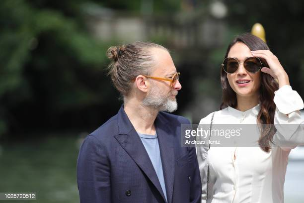Singer Thom Yorke and Dajana Roncione are seen during the 75th Venice Film Festival on September 1 2018 in Venice Italy