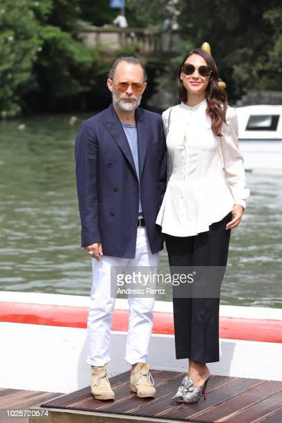 Singer Thom Yorke and Dajana Roncione are seen during the 75th Venice Film Festival on September 1, 2018 in Venice, Italy.