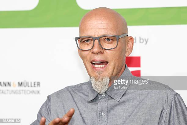 Singer Thomas Duerr alias Hausmeister Thomas D of the band 'Die Fantastischen Vier' attends the Green Tec Award at ICM Munich on May 29 2016 in...