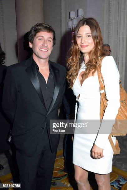 Singer Thomas Dutronc and actress Alice Pol attend 'La Recherche en Physiologie' Charity Gala at Four Seasons Hotel George V on March 13 2017 in...