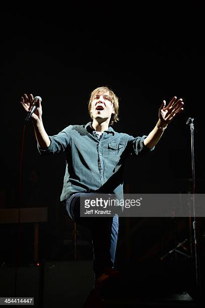 Singer Thomas Mars of Phoenix performs onstage at the 24th Annual KROQ Almost Acoustic Christmas at The Shrine Auditorium on December 8 2013 in Los...