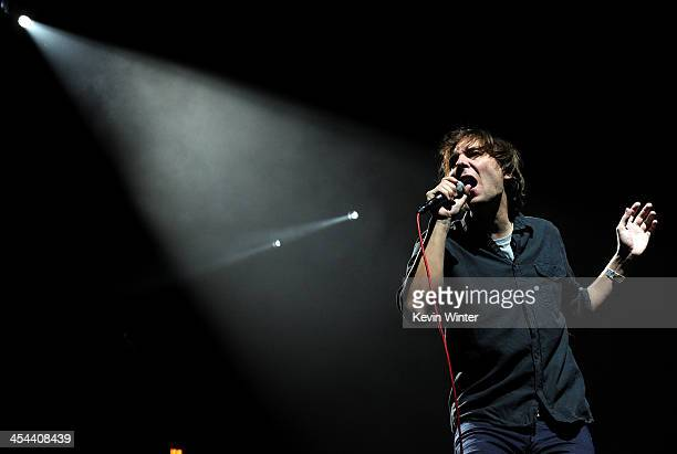 Singer Thomas Mars of Phoenix performs onstage during The 24th Annual KROQ Almost Acoustic Christmas at The Shrine Auditorium on December 8 2013 in...