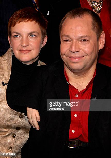 Singer Thomas Quasthoff and his wife Claudia Quasthoff attend the taping of the birthday show for Bassbaritone singer Thomas Quasthoff on October 15...