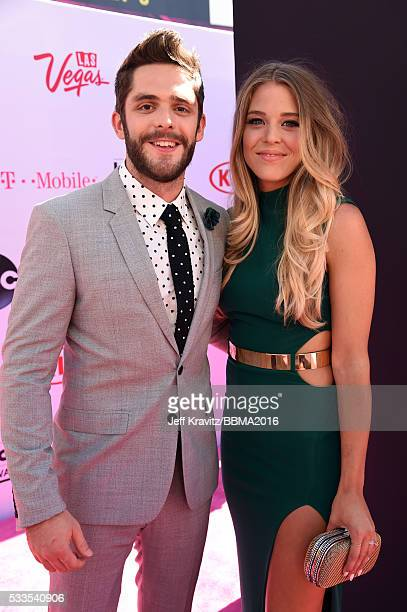 Singer Thomas Rhett and Lauren Gregory attend the 2016 Billboard Music Awards at TMobile Arena on May 22 2016 in Las Vegas Nevada