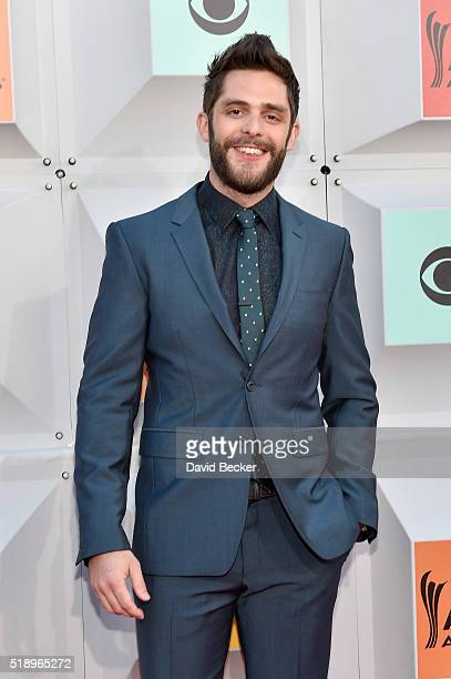 Singer Thomas Rhett attends the 51st Academy of Country Music Awards at MGM Grand Garden Arena on April 3 2016 in Las Vegas Nevada