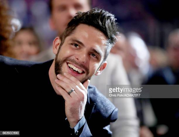 Singer Thomas Rhett attends the 52nd Academy Of Country Music Awards at TMobile Arena on April 2 2017 in Las Vegas Nevada