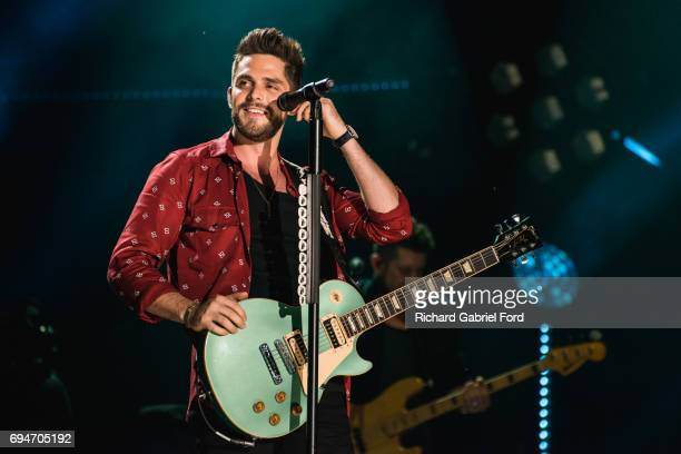 Singer Thomas Rhett performs at Nissan Stadium during day 3 of the 2017 CMA Music Festival on June 10 2017 in Nashville Tennessee