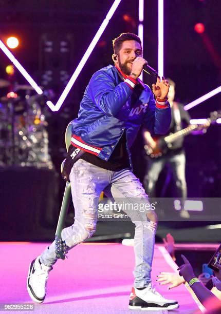 Singer Thomas Rhett performs in concert at MercedesBenz Stadium on May 26 2018 in Atlanta Georgia
