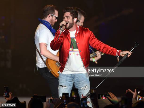 Singer Thomas Rhett performs on the Toyota Mane Stage during day 3 of 2017 Stagecoach California's Country Music Festival at the Empire Polo Club on...