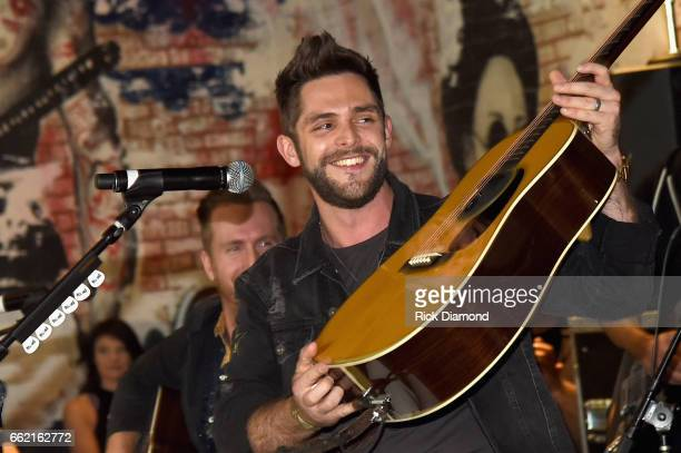 Singer Thomas Rhett performs onstage during Big Machine Label Group Outnumber Hunger Launch Event during ACM Weekend on March 31 2017 in Las Vegas...