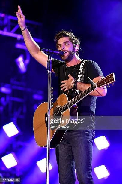 Singer Thomas Rhett performs onstage during the 2015 CMA Festival on June 13, 2015 in Nashville, Tennessee.
