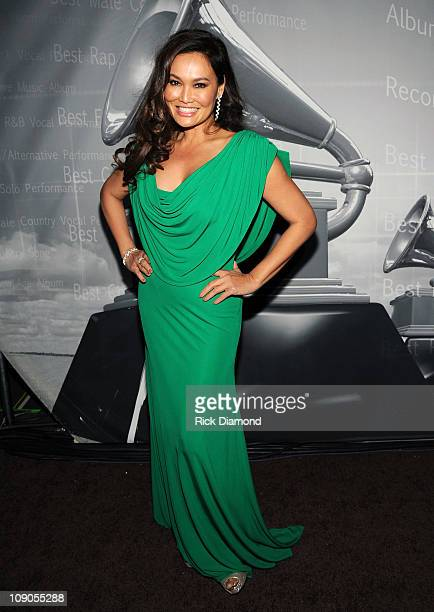 Singer Tia Carrere poses backstage during The 53rd Annual GRAMMY Awards Pre-Telecast held at the Los Angeles Convention Center on February 13, 2011...