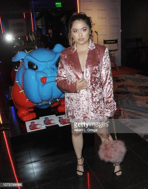 Singer Tiana attends the Amare's Second Year Anniversary 'Believe Issue' Party held at Sofitel Los Angeles At Beverly Hills on December 13 2018 in...