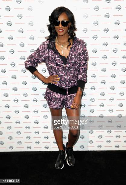 Singer Tiara Thomas attends day 2 of the Fan Fest Nissan Surprise Inside Booth during the 2014 BET Experience At LA LIVE on June 29 2014 in Los...