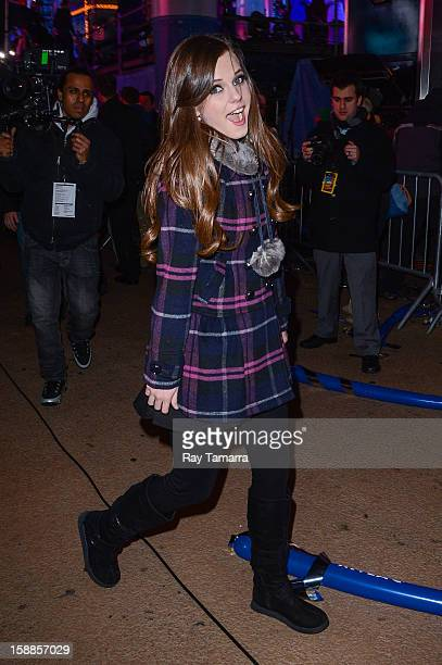 Singer Tiffany Alvord leaves the New Year's Eve 2013 in Times Square on December 31 2012 in New York City