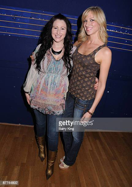 """Singer Tiffany and singer Deborah Gibson pose at """"Deborah Gibson's Electric Youth"""" Performing Arts Camp Scholarship Auditions held at the Howard Fine..."""