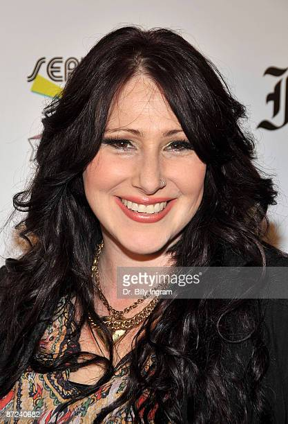 """Singer Tiffany arrives at """"Seriously PR"""" launch party at Faith Connexion Residence on May 14, 2009 in Los Angeles, California."""