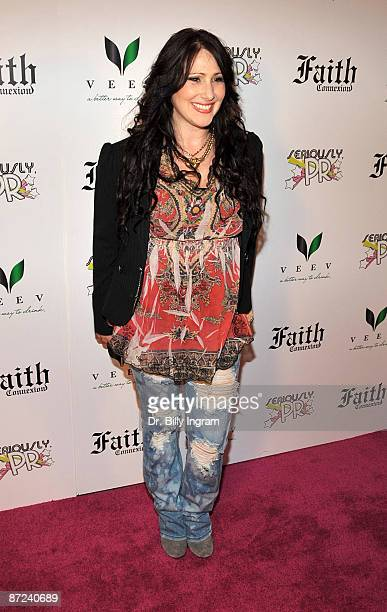 Singer Tiffany arrives at 'Seriously PR' launch party at Faith Connexion Residence on May 14 2009 in Los Angeles California