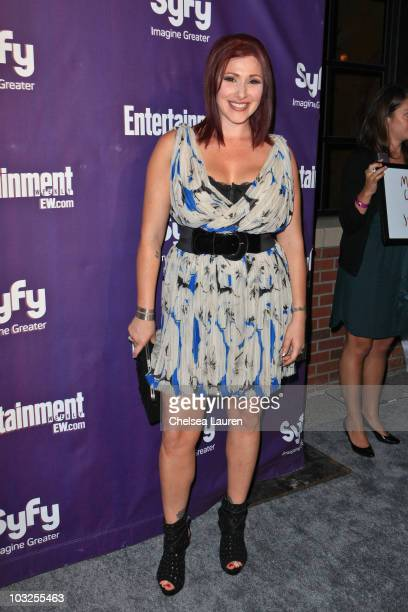 Singer Tiffany arrives at the 2010 Comic-Con Celebration Hosted By Entertainment Weekly and Syfy at Hotel Solamar on July 24, 2010 in San Diego,...