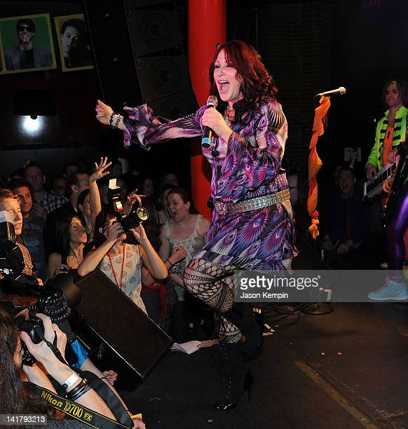 Singer Tiffany attends the Back to the Eighties 3 Year Anniversary with Rubix Kube at the Canal Room on March 23 2012 in New York City