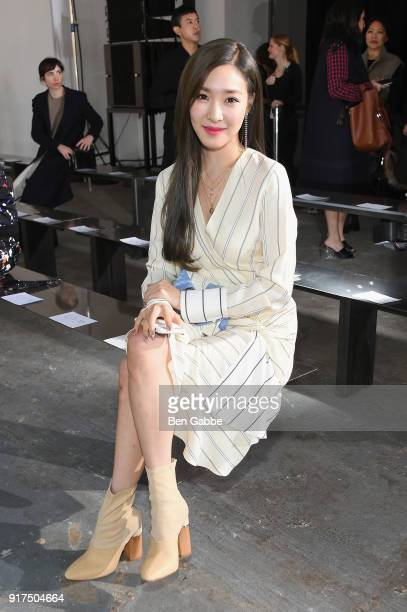 Singer Tiffany Hwang attends the 31 Phillip Lim fashion show during New York Fashion Week The Shows at Skylight Clarkson North on February 12 2018 in...
