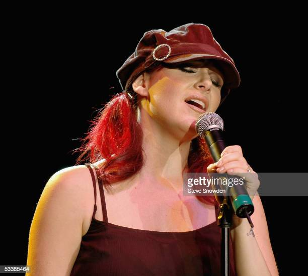 Singer Tiffany performs on stage at Route 66 Legends Theater on August 13 2005 in Albuquerque New Mexico She's on the road in support of her new CD...