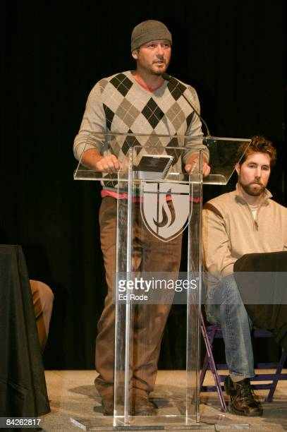 Singer Tim Mcgraw attends the Life Lessons from Baseball fundraiser at the Allen Arena at Lipscomb University on January 12, 2009 in Nashville,...