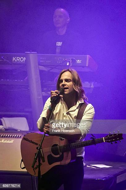 Singer Tim Wilhelm of the German band Muenchener Freiheit performs live during a concert at the Friedrichstadtpalast on January 23, 2017 in Berlin,...