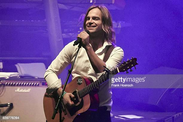 Singer Tim Wilhelm of the German band Muenchener Freiheit performs live during a concert at the Friedrichstadtpalast on January 23 2017 in Berlin...