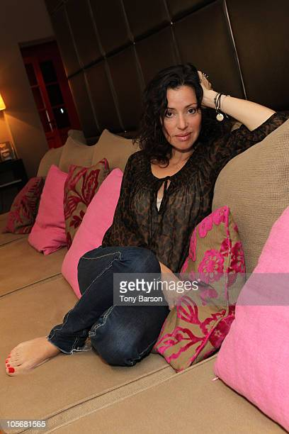 COVERAGE*** Singer Tina Arena poses for an exclusive Portrait session during the 12th International 'Festival des Antipodes' at Hotel des Lices on...