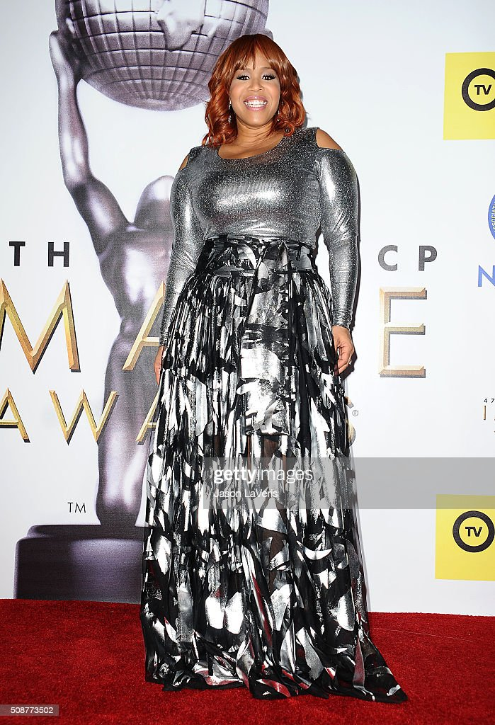 Singer Tina Campbell poses in the press room at the 47th NAACP Image Awards at Pasadena Civic Auditorium on February 5, 2016 in Pasadena, California.