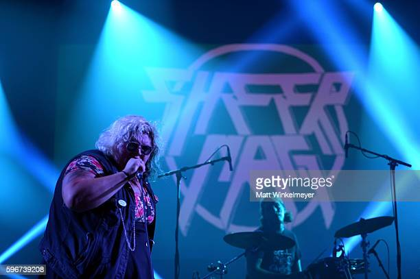 Singer Tina Halladay and Ian Dykstra of Sheer Mag perform onstage during FYF Fest 2016 at Los Angeles Sports Arena on August 27 2016 in Los Angeles...