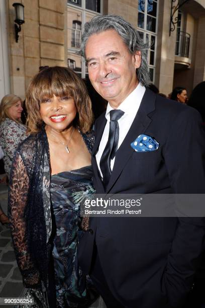 Singer Tina Turner and her husband Erwin Bach attend the Giorgio Armani Prive Haute Couture Fall Winter 2018/2019 show as part of Paris Fashion Week...