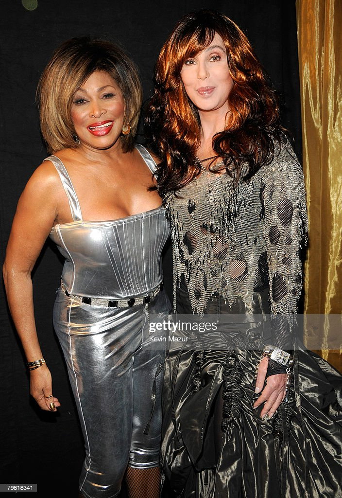 Singer Tina Turner and SInger Cher at the 50th Annual GRAMMY Awards at the Staples Center on February 10, 2008 in Los Angeles, California. **EXCLUSIVE**