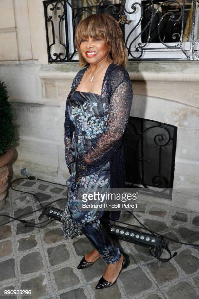 Singer Tina Turner attends the Giorgio Armani Prive Haute Couture Fall Winter 2018/2019 show as part of Paris Fashion Week on July 3 2018 in Paris...
