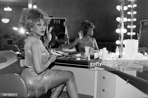 Singer Tina Turner is photographed in her dressing room backstage ahead of her show at New York's Radio City Music Hall in New York 12th July 1993