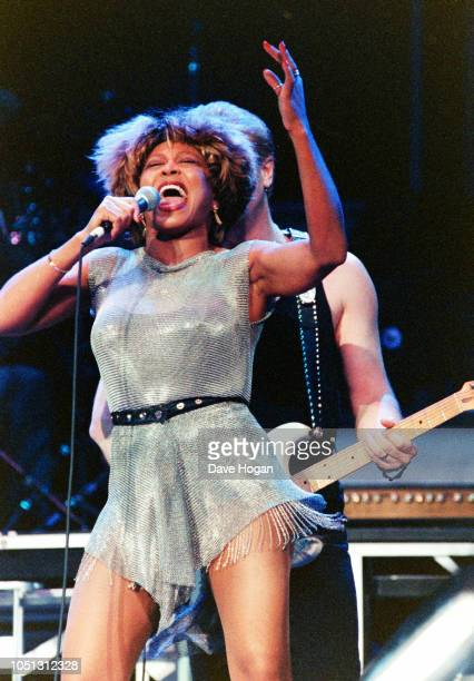 Singer Tina Turner performs on stage at New York's Radio City Music Hall in New York, 12th July 1993.