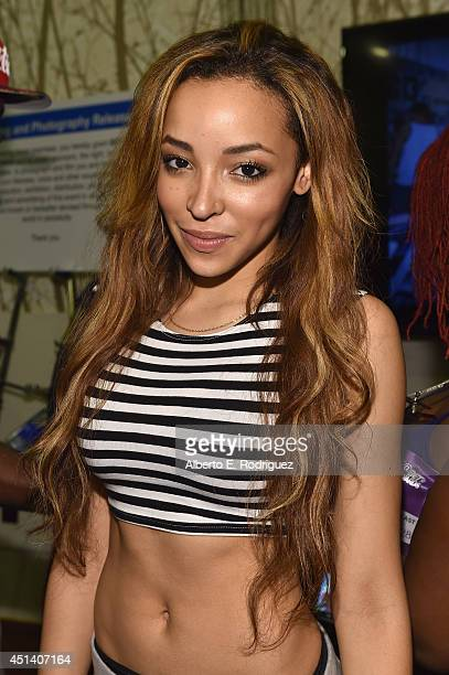 Singer Tinashe attends day 2 of the Radio Broadcast Center during the BET Awards '14 on June 28 2014 in Los Angeles California