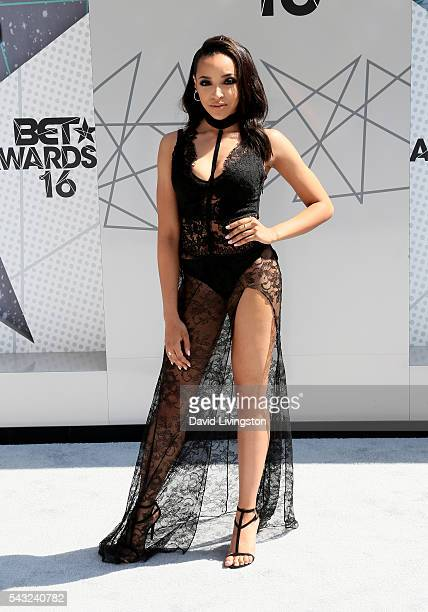 Singer Tinashe attends the 2016 BET Awards at Microsoft Theater on June 26 2016 in Los Angeles California