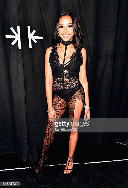 Singer Tinashe attends the 2016 BET Awards at the Microsoft Theater on June 26 2016 in Los Angeles California