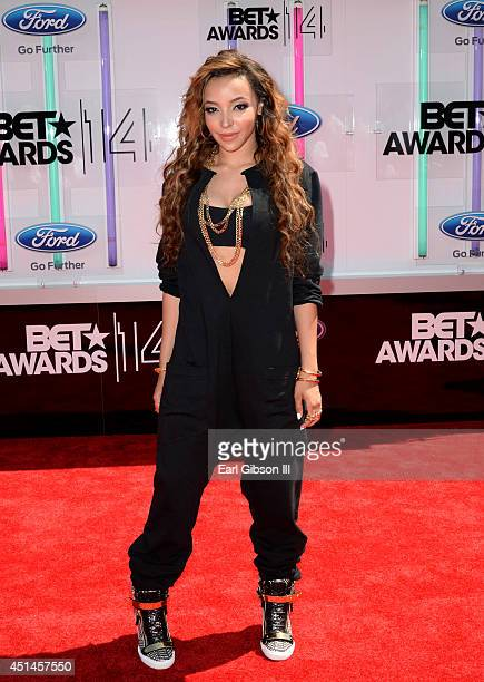 Singer Tinashe attends the BET AWARDS '14 at Nokia Theatre LA LIVE on June 29 2014 in Los Angeles California