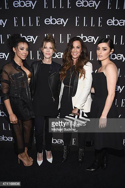 Singer Tinashe EditorinChief at Elle Magazine Robbie Myers singers Alanis Morissette and Banks attend the 6th annual ELLE Women In Music celebration...