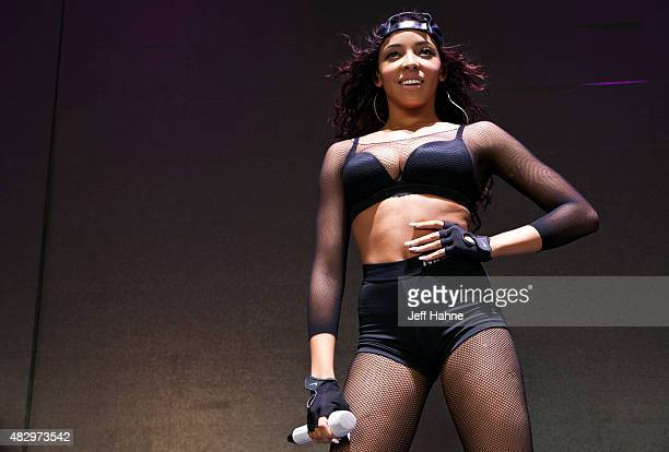Singer Tinashe performs at The Pinkprint Tour at PNC Music Pavilion on August 4 2015 in Charlotte North Carolina
