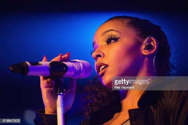 Singer Tinashe performs on stage during the 'Joyride World Tour' at Showbox SoDo on April 8 2016 in Seattle Washington