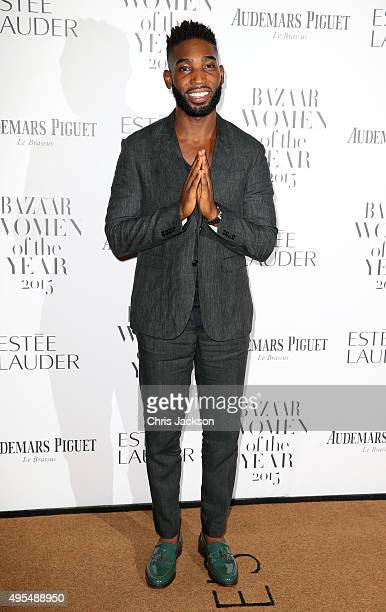 Singer Tinie Tempah attends Harper's Bazaar Women of the Year Awards at Claridge's Hotel on November 3 2015 in London England